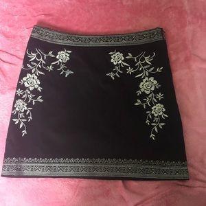 Black & White Mini Skirt